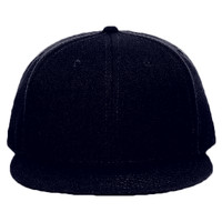 "OTTO Wool Blend Twill Round Flat Visor ""OTTO SNAP"" Youth Six Panel Snapback Hat"