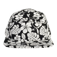 OTTO Hawaiian Pattern Superior Cotton Twill Square Flat Visor Snapback Five Panel Camper Hat
