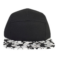 OTTO Superior Cotton Twill w/ Hawaiian Pattern Square Flat Visor Five Panel Camper Hat