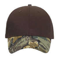 OTTO Camouflage Visor Cotton Blend Twill Six Panel Low Profile Baseball Cap