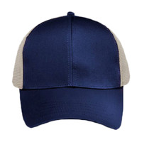 OTTO Cotton Twill Six Panel Low Profile Mesh Back Trucker Hat
