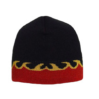 "OTTO Flame Pattern Acrylic Knit 8"" Reversible Beanie"