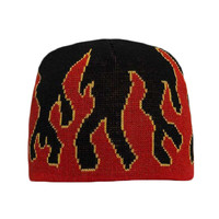 "OTTO Flame Pattern Acrylic Knit 8"" Beanie"