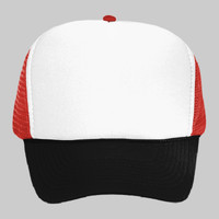 OTTO Polyester Foam Front Five Panel High Crown Mesh Back Trucker Hat