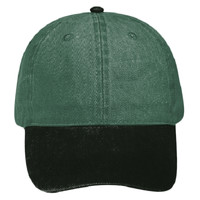OTTO Garment Washed Pigment Dyed Bull Denim Six Panel Low Profile Dad Hat