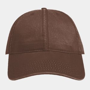 OTTO Garment Washed PU Coated Cotton Blend Canvas Six Panel Low Profile Dad Hat Thumbnail