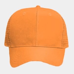 OTTO Neon Polyester Twill Six Panel Pro Style Mesh Back Trucker Hat Thumbnail