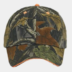 OTTO Camouflage Brushed Cotton Blend Twill Sandwich Visor Six Panel Low Profile Baseball Cap Thumbnail