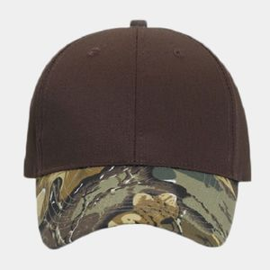 OTTO Camouflage Visor Cotton Blend Twill Six Panel Low Profile Baseball Cap Thumbnail