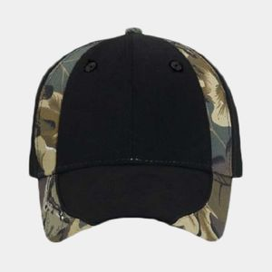 OTTO Camouflage Piping Design Brushed Cotton Blend Twill Six Panel Low Profile Baseball Cap Thumbnail
