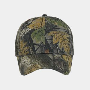 OTTO Camouflage Brushed Cotton Blend Twill Six Panel Low Profile Baseball Cap Thumbnail